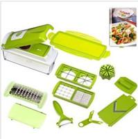 Wholesale 2 set EMS Fruit Vegetable Nicer Dicer Plus Slicer Cutter Chopper Chop Potato Peelers best Kitchen helper