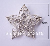 Wholesale 46mm rhinestone metal brooch with pin