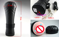 Realistic Vaginas   Flashlight 7 Speed Electronic masturbation Cup Vibration Pussy Vagina Sex Cup Adult Toy male masturbation