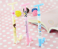 Rollerball Pens kick scooter - 400pcs Stationery Kick Scooter Rollerball Pens Ball point Pen Lovely Pencil Children s Toys Gifts