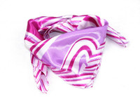 Wholesale Cheap Square Scarf Square Style Satin Fabric Imitation Silk Pink Color New Arrival A17