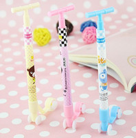 Wholesale 60pcs Stationery Kick Scooter Rollerball Pens Ball point Pen Lovely Pencil Children s Toys Gifts