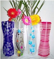 Wholesale foldable plastic flower vase Convenient water bag noelty plastic vase home decor new hotsale wholsale