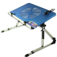 Metal please read the product description Other Furniture Brand New Folding Laptop Bed Desk With Fan Blue Free Shipping & Drop Shipping