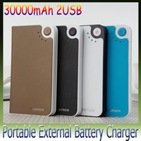 Wholesale 1pcs USB power bank mAh for G S Portable External Battery Charger for Galaxy S4 note2 S3 with LPS A027