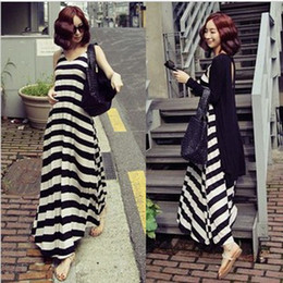 Wholesale 2014 New Summer Fashion Large size Stripes Two Piece sets Maternity Vest Dress Pregnant women dresses Maternity Tank Skirt YZ104