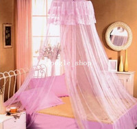 100% Polyester Cotton Column Brand New High Qulity Bed Canopy Netting Curtain Dome Fly Mosquito Midges Insect Stopping Net Outdoor Freeshipping Dropshipping