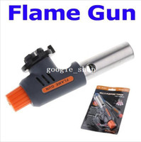 Wholesale Gas torch Hiking camp fire starter maker flame gun lighter One Gas Butane Burner Auto Ignition Weld flame gun