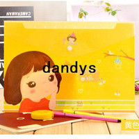 bags shipping companies - Horizontal file bag file folder small coffee snap button file bag cartoon file bag office school company