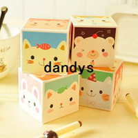 Wholesale 2013 new Korea stationery small animal mini boxed notes paper memo pad book box