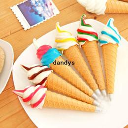 Wholesale Hot Innovation of the ball point pen Like ice cream New Novelty ice cream ball pen dandys