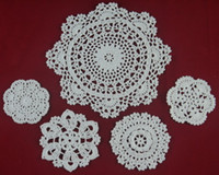 Wholesale cotton hand made crochet doily table cloth designs colors custom cup mat round cm crochet applique tm502a