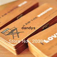 Wholesale New Vintage Movie series wooden pencil cases clean uo boxes pen box holder nice gift