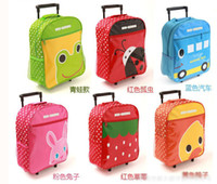 Wholesale Children luggages children draw bar box large capacity lovely cartoon pattern boys girls