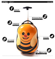 Wholesale kids Children s cute adorable baby bee Trolley Case Suitcase girls rolling luggage new arrive