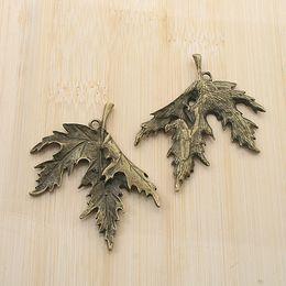 6pcs antiqued bronze color maple leaf design pendant charm G1820