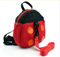 Wholesale Ladybug Baby Anti lost band toddler with a small bag baby bag backpack Beetle bag