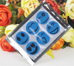 Wholesale Camping repellent sticker Smiling Face Best Mosquito Natural Repellent Patch Insect bug protect