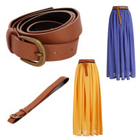 Wholesale Fashion Classic Women Lady Waist Belt PU Faux Leather Waistband Belt Buckle Strap cummerbund GA0014