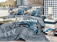 Adult Twill Printed 4pc bedding cover set,hot discount bedspread set,500TC cotton special comforter cover ,queen full size,EMS freee shipping