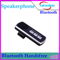 Wholesale DHL Universal Cell Phone Handsfree Bluetooth Car Kit Handsfree Speaker FM