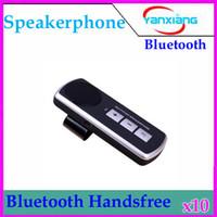 Wholesale DHL Universal Cell Phone Handsfree Bluetooth Car Kit Handsfree Speaker FM