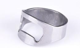 Free Shipping 100pcs lot Stainless Steel Beer Bar Tool Finger Ring Bottle Opener