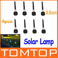 Wholesale 8Pcs cm White Solar Lamps LED Solar Light Outdoor Garden Lawn Landscape Decoration Lamp Plastic Freeshipping wholesales H9472