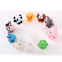 Wholesale Hot Lovely Animal Finger Puppets Baby Plush Toy Short Plush Stuffed Toys For Kids Children