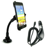 Wholesale Car Windscreen Suction Mount Holder Cardle Car Charger For Samsung Galaxy NOTE N7100