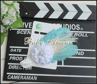 Wholesale 2013 colorful feather hairband diamond fashion children s hair band headdress hair ornament