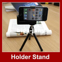 Wholesale car Rotatable Mini Tripod Holder Stand For iphone Camera Mobile Phone Cell phone