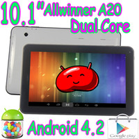 Wholesale 10 Inch Allwinner A20 Boxchip Dual Core GHZ Android GB RAM GB ROM Tablet PC Capacitive Touch Screen Google Play HDMI Wifi Webcam
