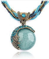 Wholesale 2013 HOT SELL Women s Bohemian necklace National wind Exaggerated necklaces Restore ancient ways jewelry