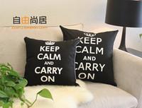 Wholesale Keep Calm Cushion Cover Cotton Sofa Cushion Cover Modern Simple Back Cushion Cover x45cm