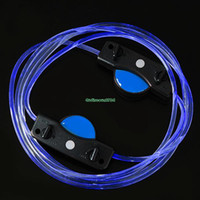 Halloween   EN1394 Blue 3 Mode LED Shoe Lace Shoelaces Shoestring Party Night Flash Glow Strap