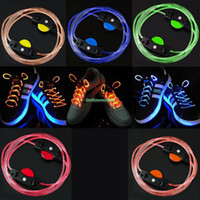 Halloween   EN1397 1 Pair 3 Mode LED Shoe Lace Shoe lace Shoestring Party Night Flash Glow Strap