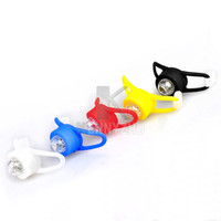 Wholesale New Flexible Rubber Bike Head Ring LED Colorful Light Bicycle Warning Lamp Cycling Back Light