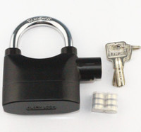 Wholesale Universal Alarm Lock for Bike Motorcycle Chain Lock Security Alarmed Padlock Lock Black color