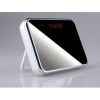 Wholesale T1000 Spy Clock Camera HD Digital Mirror Clock Style Hidden DVR with Motion Detection amp Remote Control Hot Sale