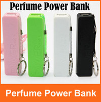 Universal Emergency Chargers  2600mAh Perfume Power Bank Battery Charger Portable External Battery Charger for iphone 4 5 Samsung S3 S4 Charger Mobile Phone