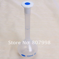 100ml Plastic flask - Free ship ml Plastic Laboratory Lab Volumetric Flask with Screw Cap Precise Measurement ml CHK0374