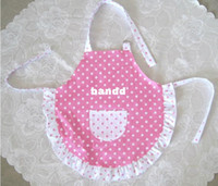 Wholesale Cotton Podka Dot printing Girl Cooking baking Apron