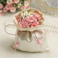 Wholesale 50Pcs Floral Pouch Chocolate Bag Wedding Candy Holder Wedding Favor Holder