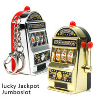 PVC slot machine - Retail Novelty Mini Casino Slot Machine Keychains With Game Luminous Vocalization Key Chains Key Rings