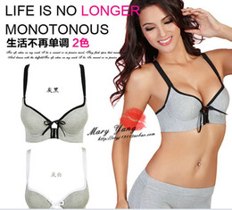 Wholesale Bamboo Fiber Bra set Sports Movement anterior cingulate body shaping builds on thin under thick Free Drop Shipping W5036