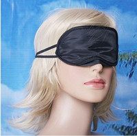 Wholesale 100X Soft Eye Mask Shade Nap Cover Blindfold Sleeping Travel Rest Christmas gift