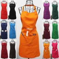 Wholesale LOGO CAN BE PRINTED Home work wear apron aprons adjustable aprons