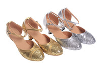 Wholesale 2013 Fashion Gold Color Silver Color Lady Latin Dance Shoes Waltz Samba Rumba Dance Shoes Belly Dance Shoes Dance Practice Shoes