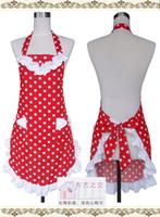 Wholesale latest design cotton cloth apron Korean aprons the fashion Polka Dot apron kitchen apron